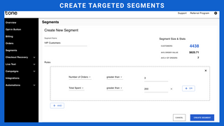 Tone Segments - Create targeted segments