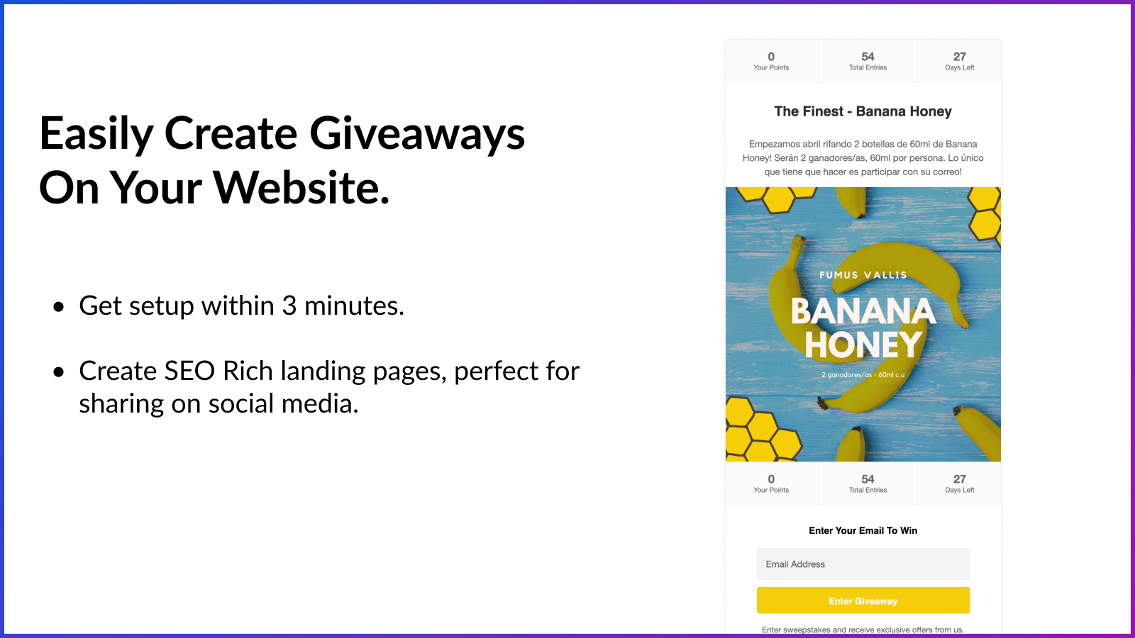 Create viral giveaways Shopify