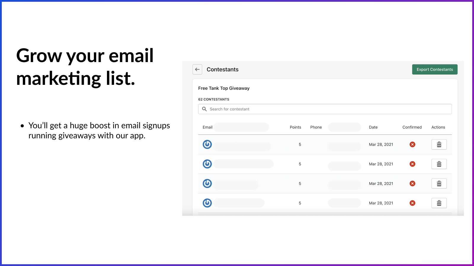 Grow Email Marketing Lists