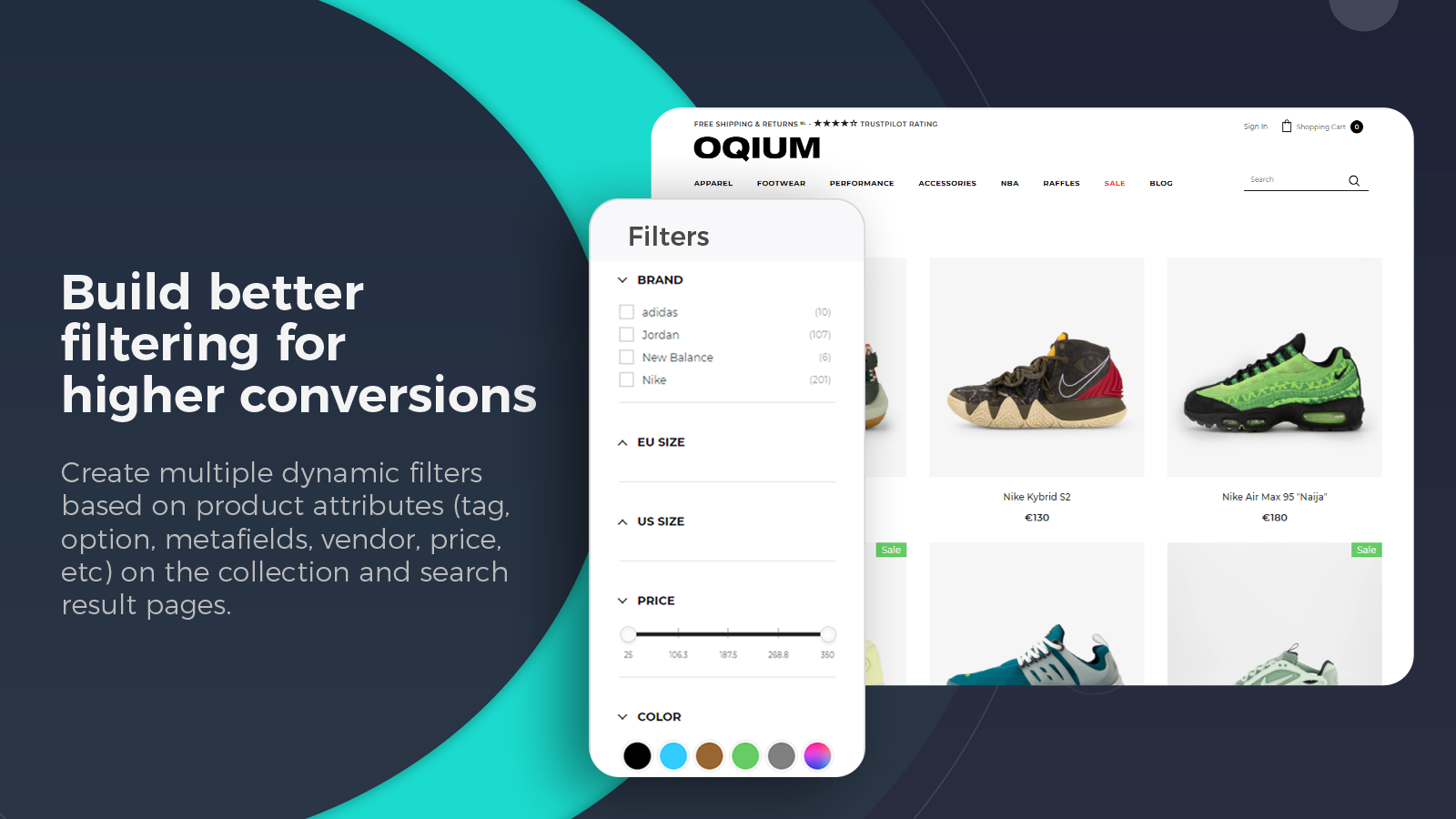 Shopify collection filter, product filter, search filter