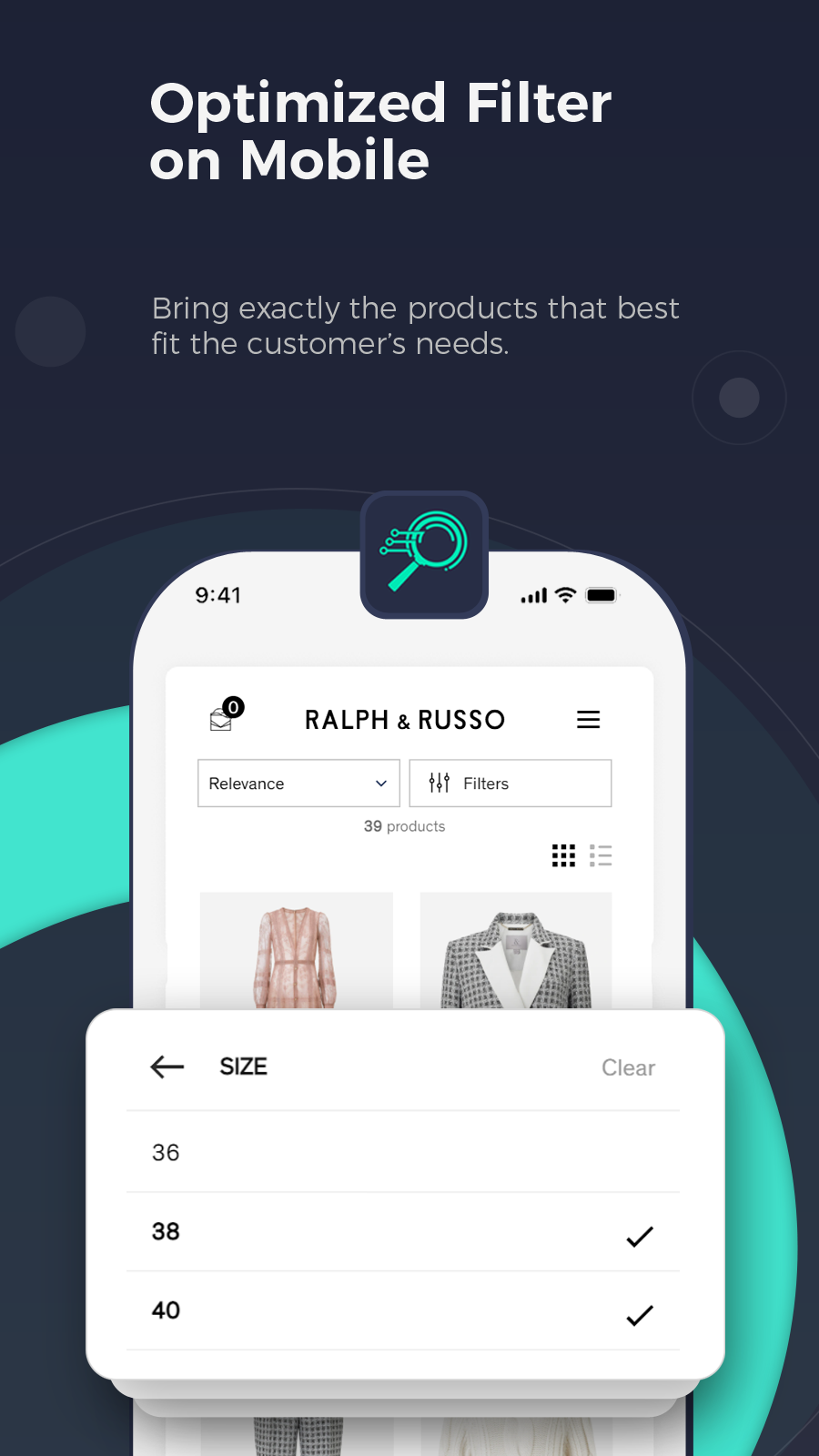 Shopify instant search, smart search, mobile search