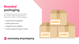 Get your brand logo on order packages