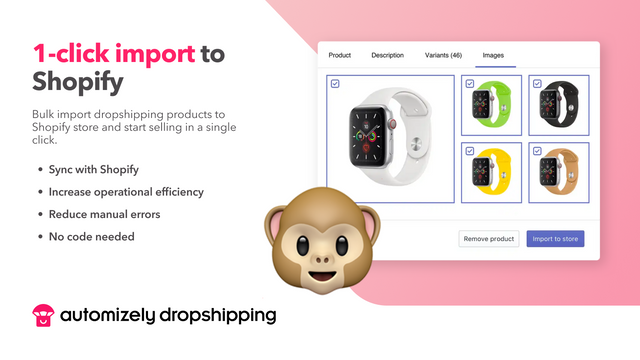 Bulk-import dropshipping products to Shopify in a click
