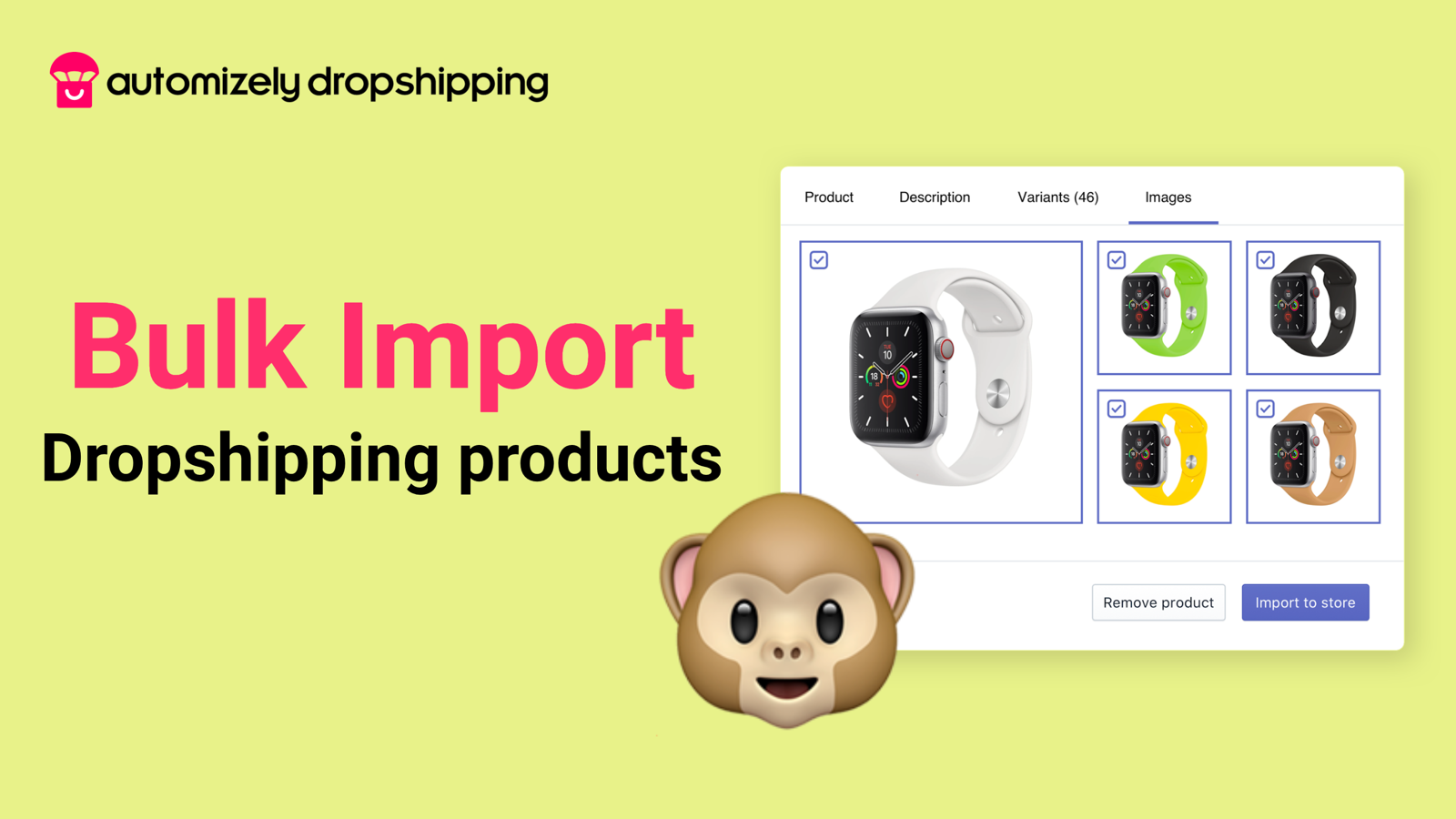 Bulk product Import to Shopify