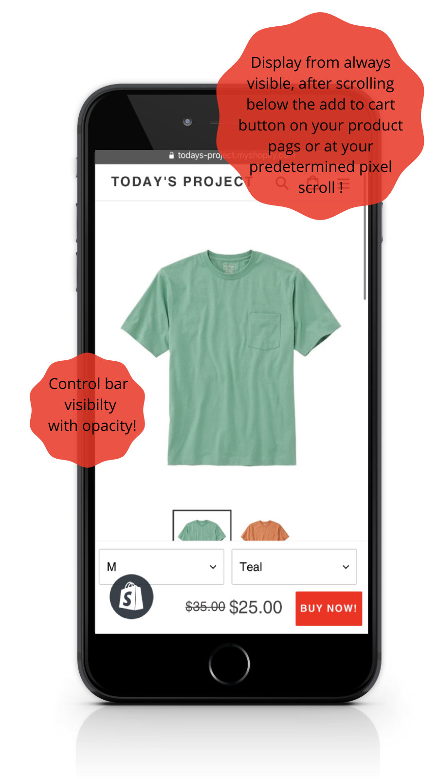 Sticky Buy Now Button - Mobile Full Layout