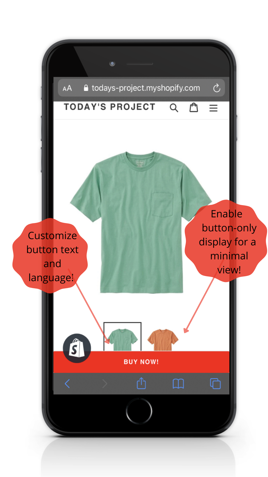 Sticky Buy Now Button - Mobile Minimal Layout Bottom Position