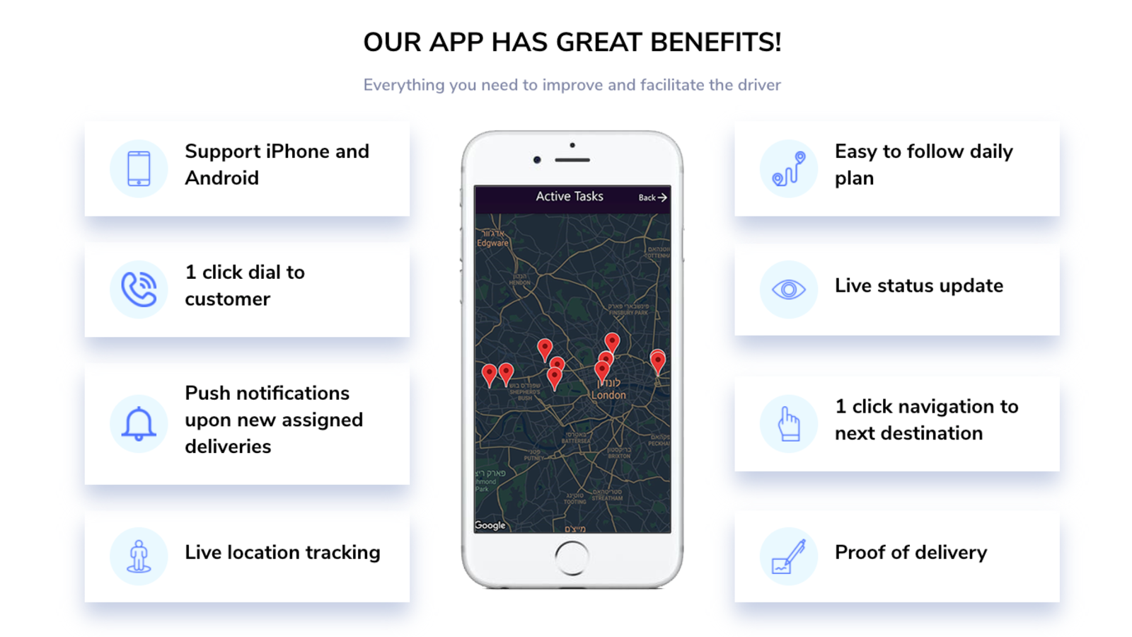 Driver Application Map