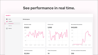 See performance in real time in the analytics dashboard.