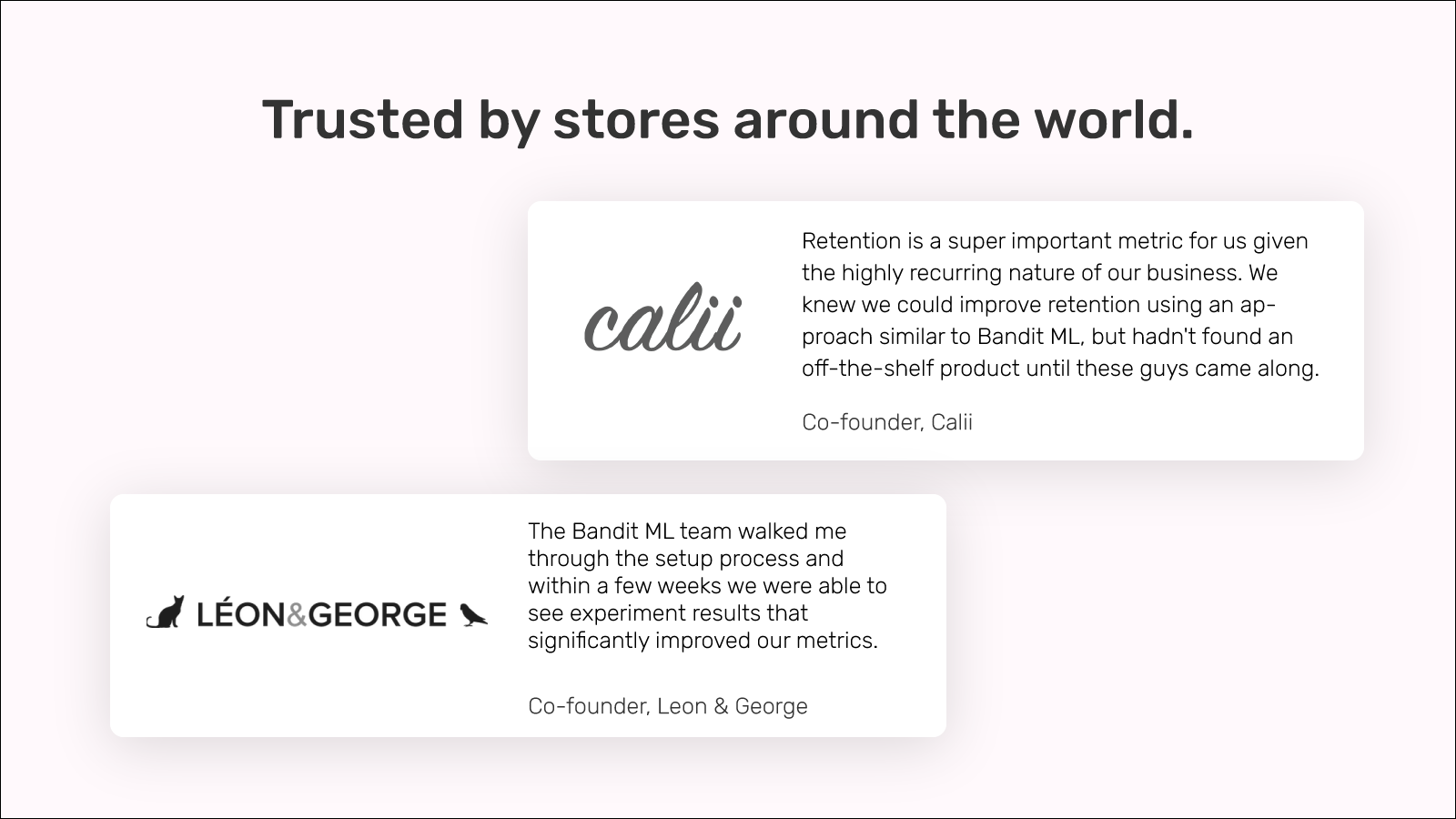 Trusted by e-commerce stores around the world.