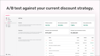 Automatically A/B test Bandit ML against your discount strategy.