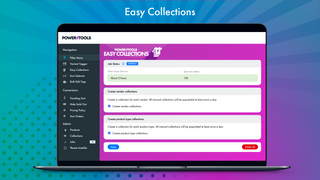 Automatically create collections for your types and brands