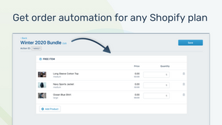 Add promos or expand bundles with order automation