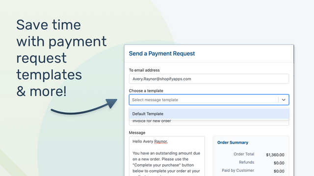 Save time with payment requests templates