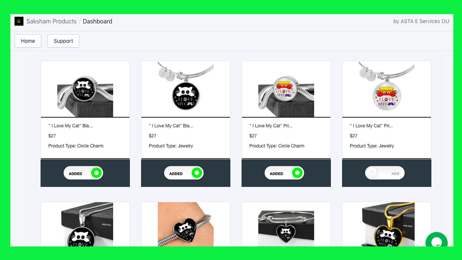 Add products in one click