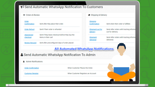 All Available Automated WhatsApp and SMS Notifications