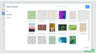 Offer a collection of categorized artwork to your customers