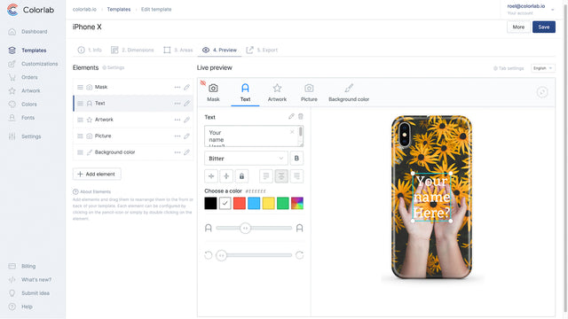 Easily manage your templates and ordered customizations