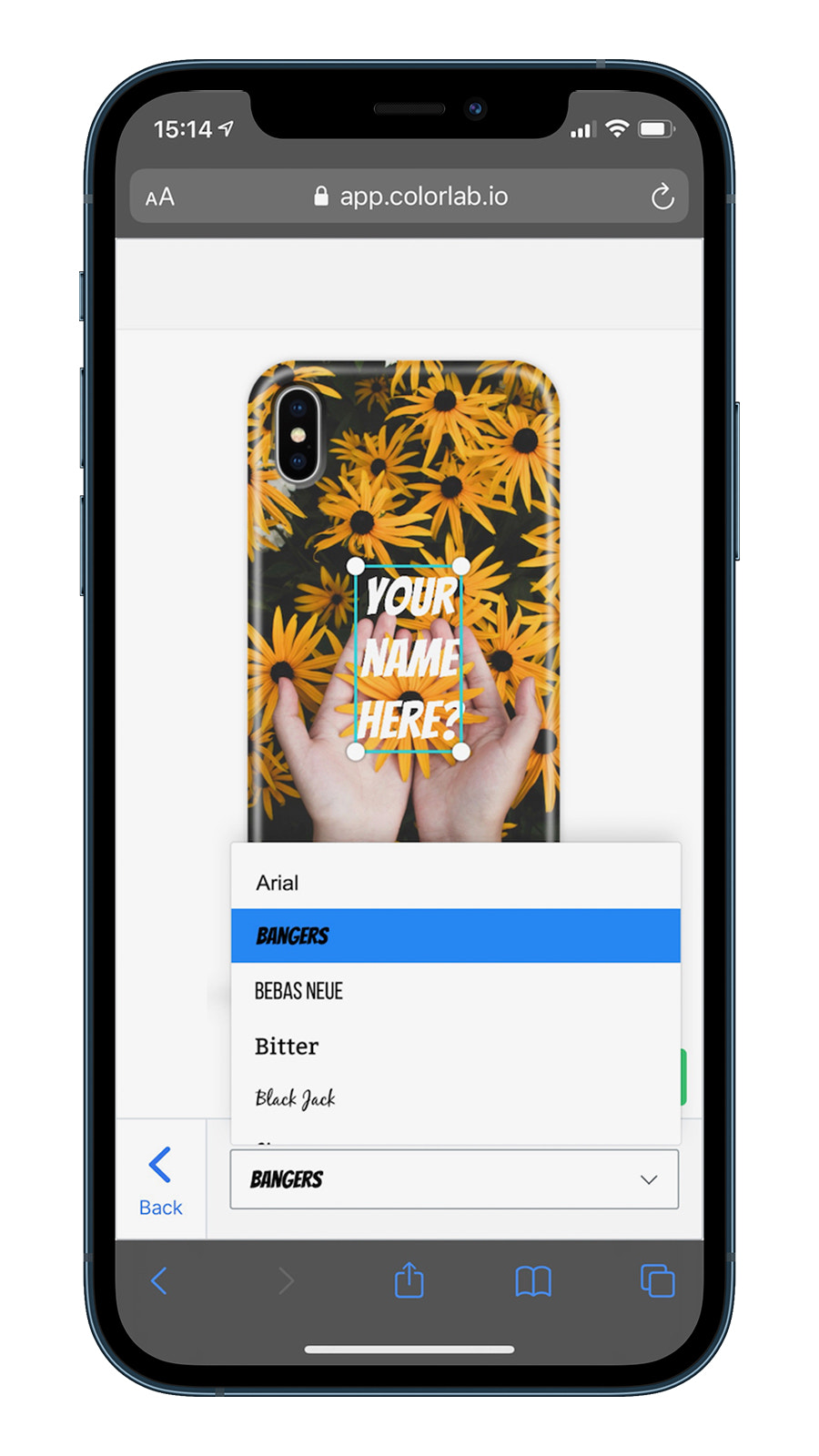 Change your font on a mobile device
