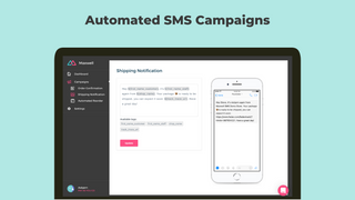 Automated text messaging upon checkout