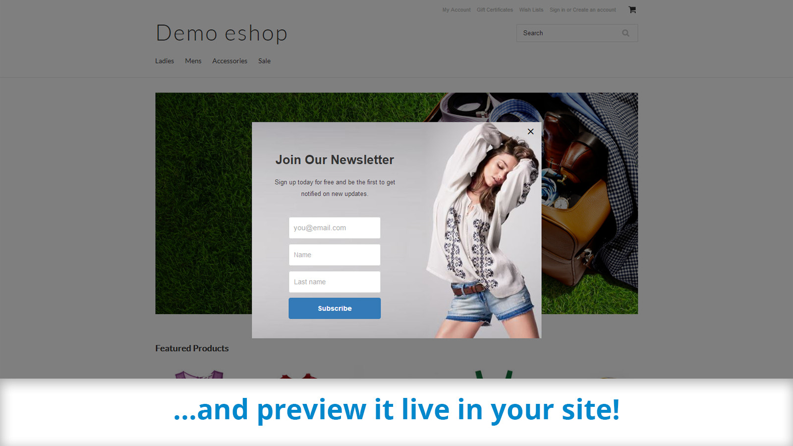 Preview your pop-up before publishing