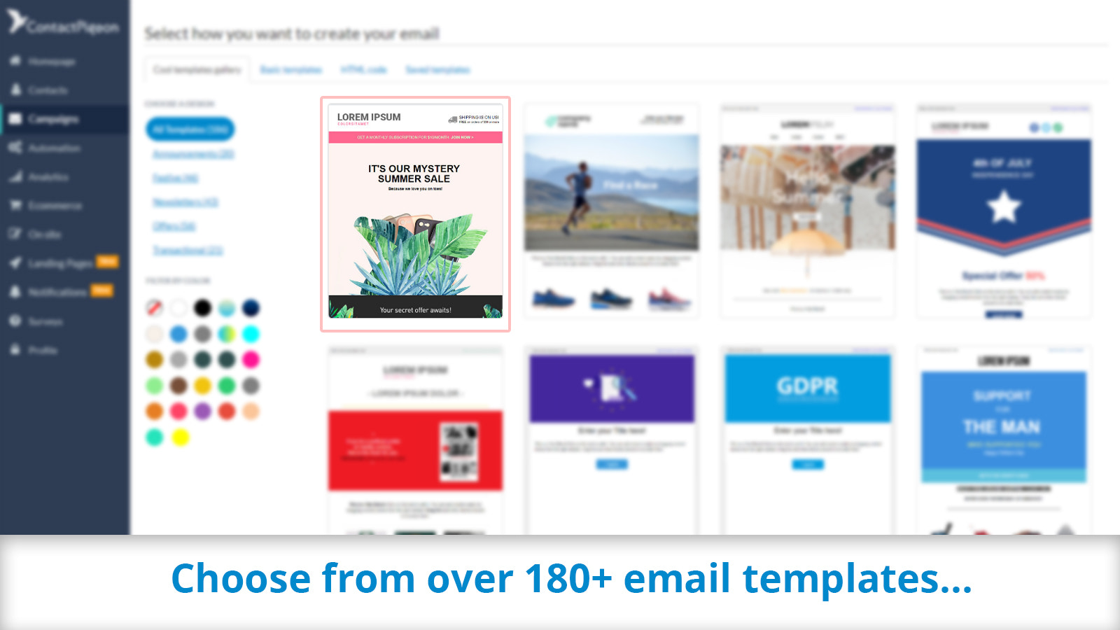 180+ professional templates to give you inspiration