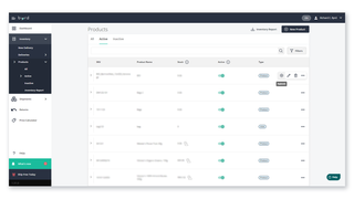 Inventory tab – manage your inventory & create new products