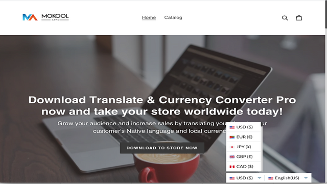 Single Menu, Unlimited Translation and Currency Converter