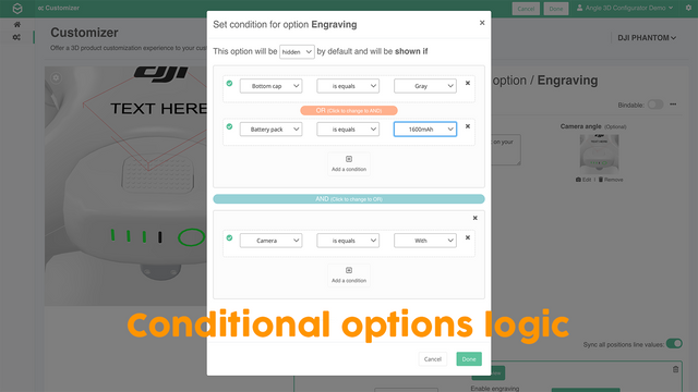 Conditional options logic