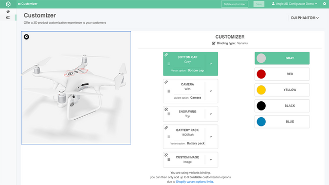 3D Customization of a drone