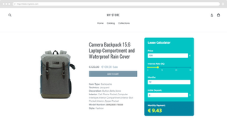 Embed your custom calculator to your Shopify store