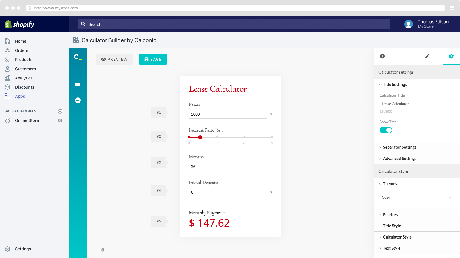 Customize your calc to match the feel and look of your website