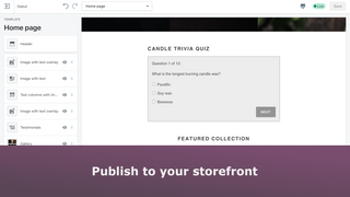 Publish to your storefront