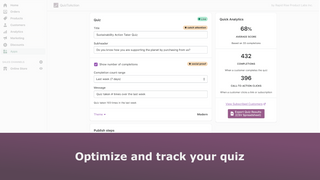 Track and manage your quiz