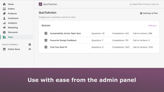 Access the app from the admin panel