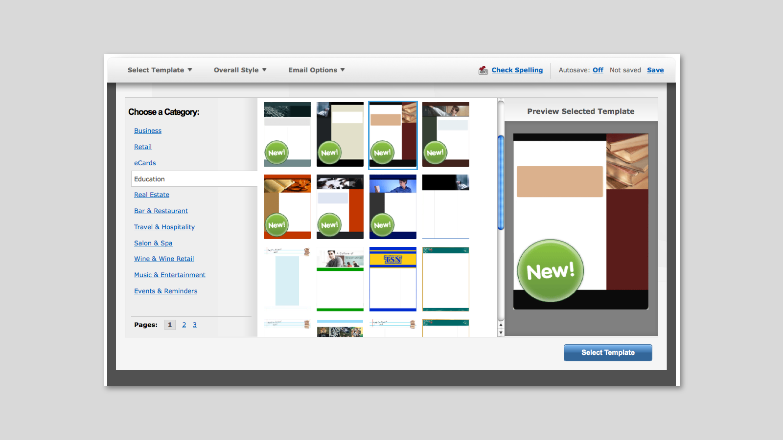 Shopify verticalresponse integration - different email templates