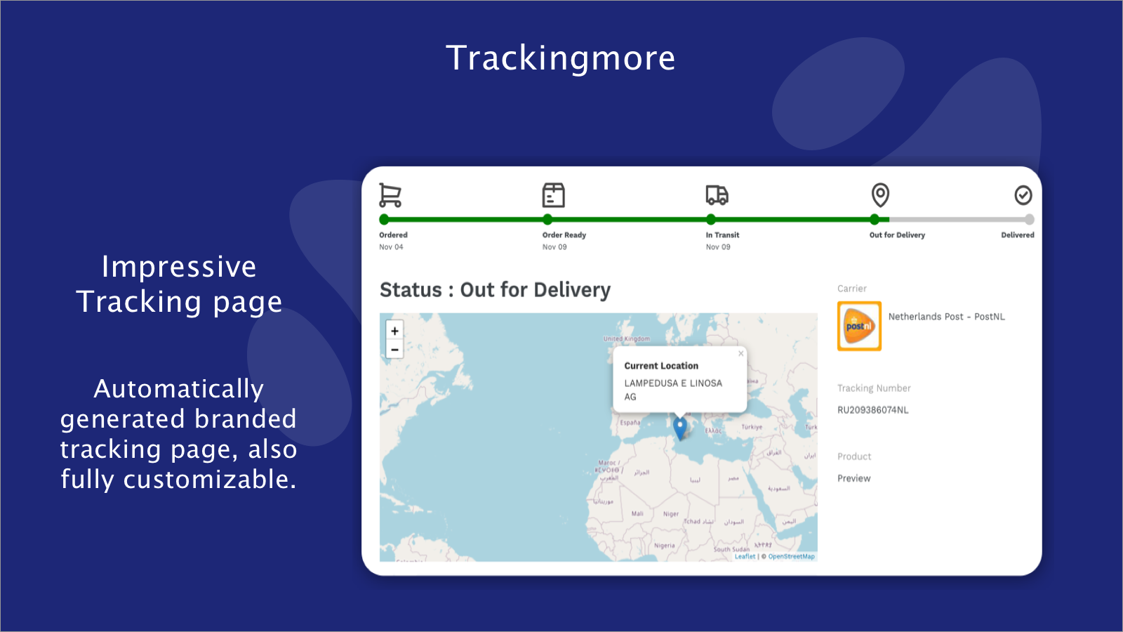 Impressive Tracking Page