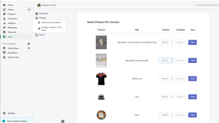 Add investors per products from admin side