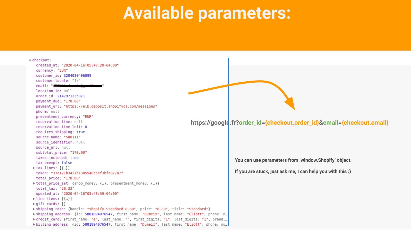 Available parameters