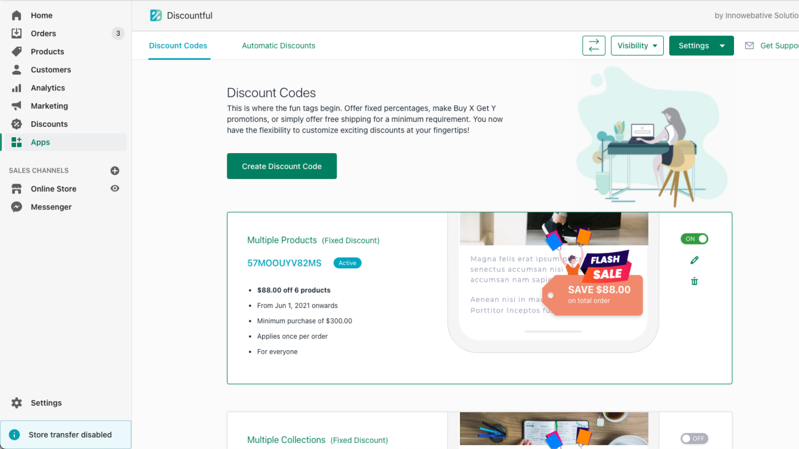Manage Discount - Listing Page