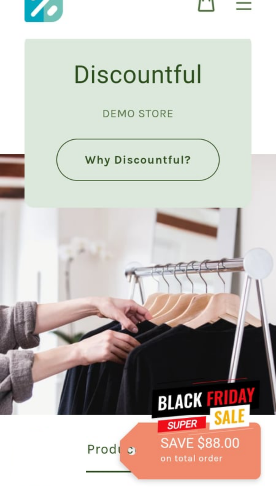 Discount Tags on Store Front