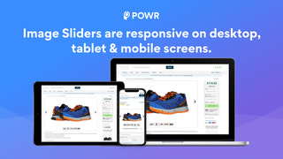 Image Sliders are responsive on Desktop, Tablet, & Mobile.