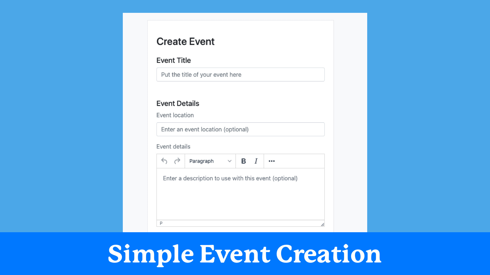 Simple event creation