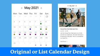 Original or list calendar design options