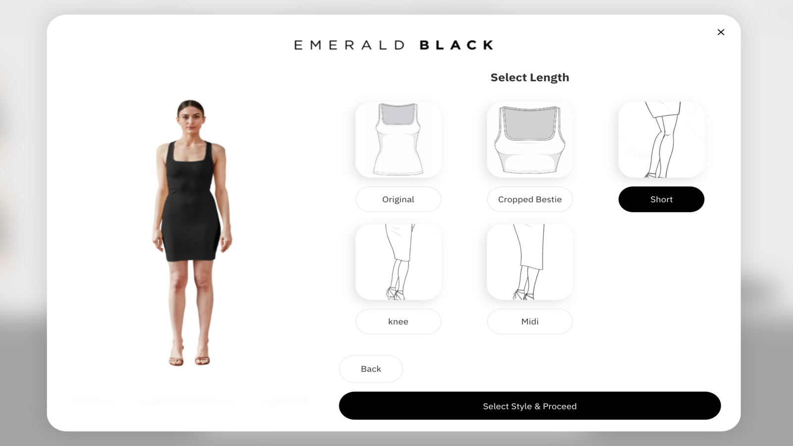 2- View all product options on storefront
