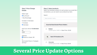 Pricing Update Options