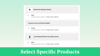 Select your products