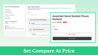 Set compare at price