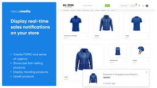 Display real-time sales notifications on your store