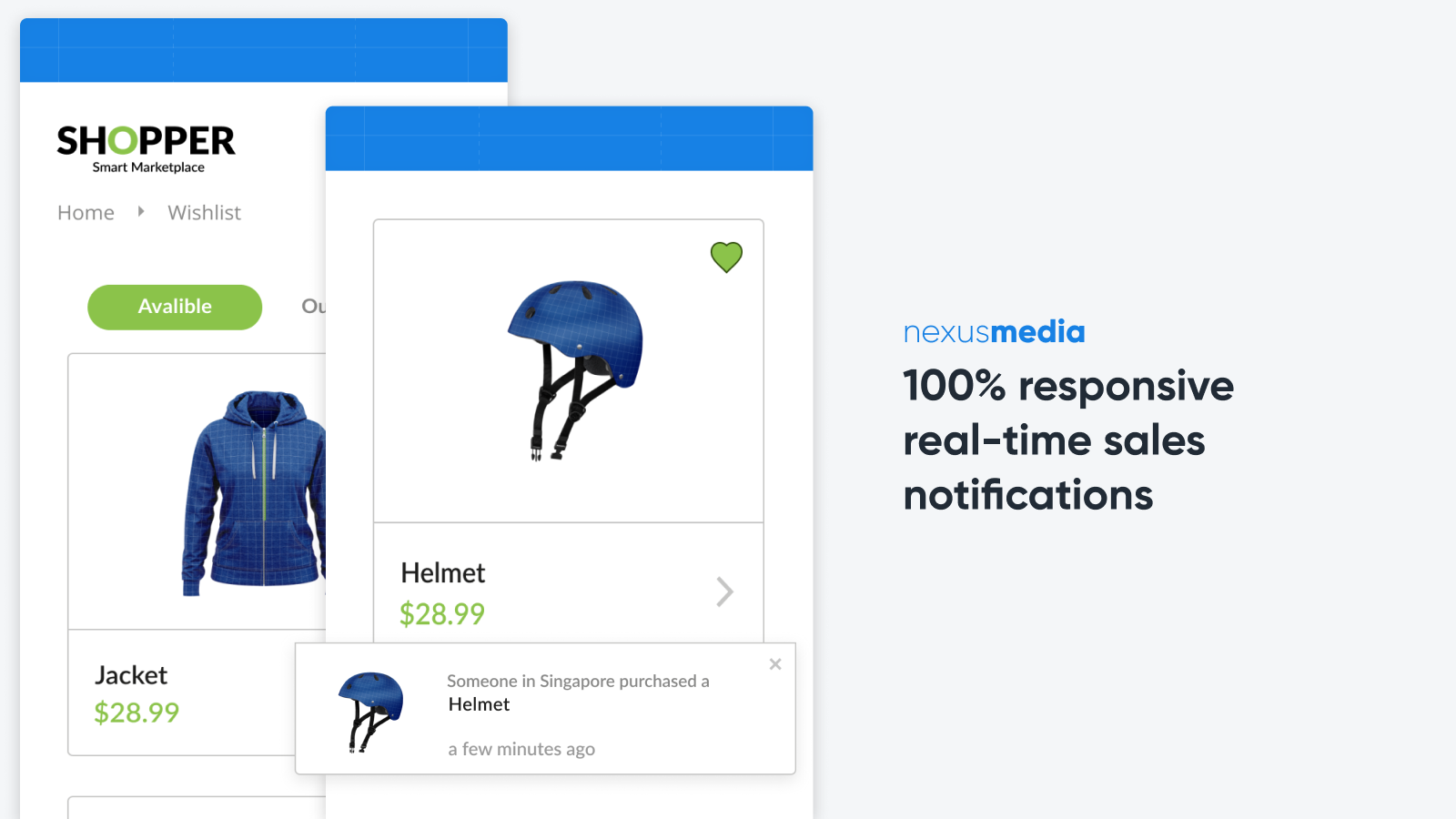 100% responsive real-time sales notifications