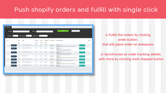 Search Shopify orders